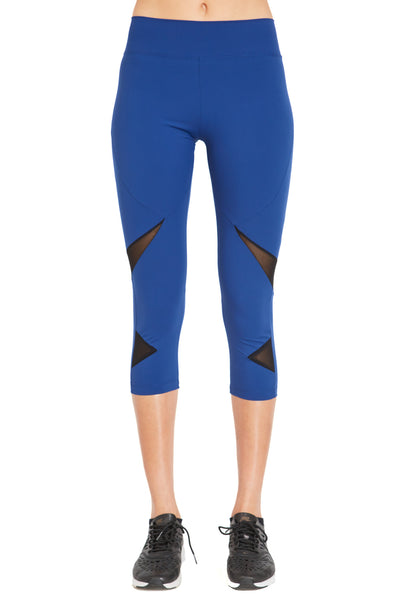 Cropped Fashion Legging (Medium Compression) - Blue