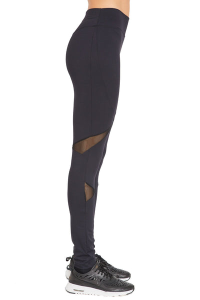 Long Compressive Fashion Leggings - Black