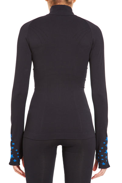 Seamless Star Jacket - Black w Cobalt