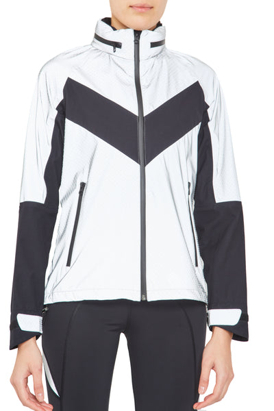 Reflective Running Jacket - Reflective w Black