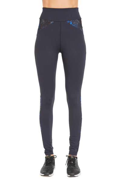 Colour Block Ying Yang Legging (Medium Compression) - Print