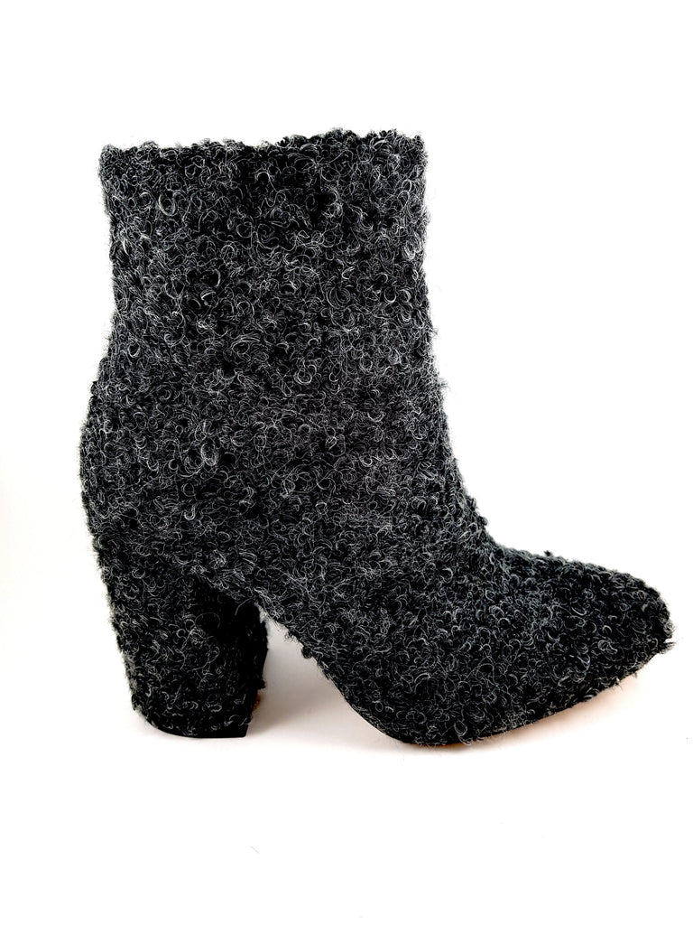 Conie Gray Boucle Medium Heel booties
