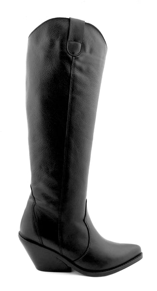 Leather Tall Cowboy Boots