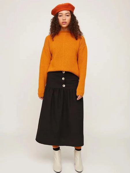 Tiered Skirt in Black by Rita Row