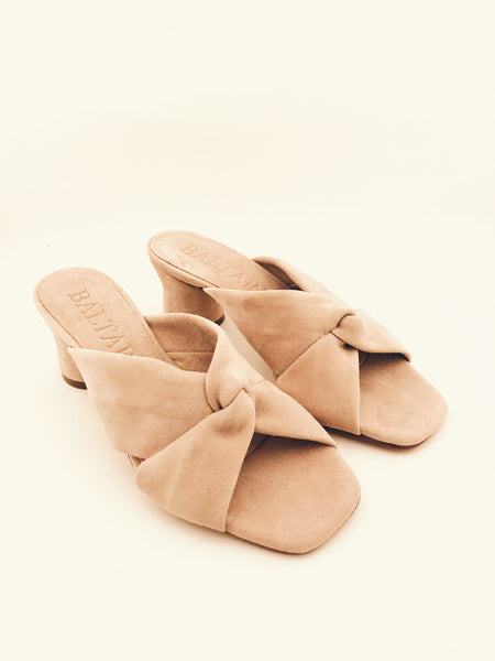 Karla Sandals in Blush Pink suede