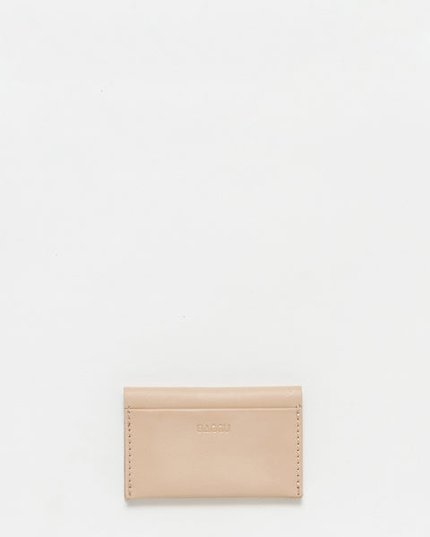 Leather simple credit card holder tan