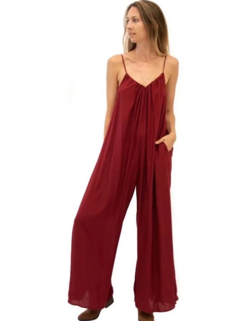 Adjustable Jumpsuit in Ruby