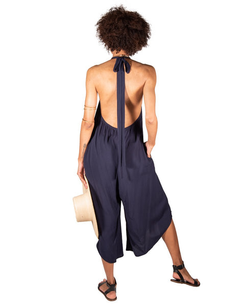 Convertible Jumpsuit Navy