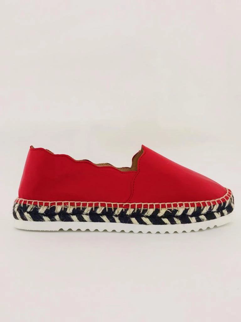 Agata Red Nappa leather Espadrilles
