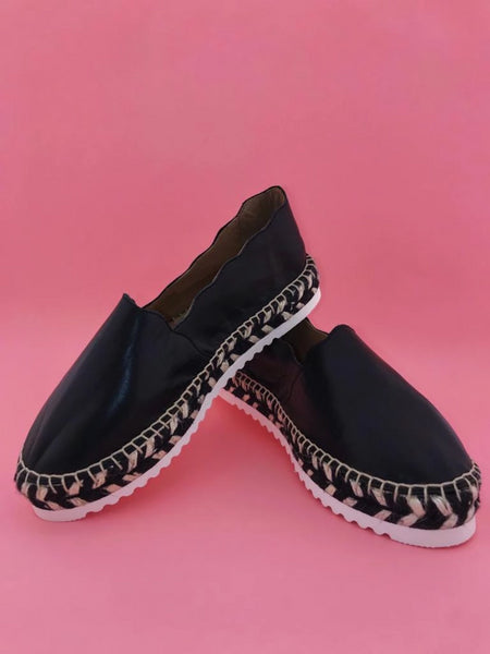 Agata Black Nappa leather Espadrilles