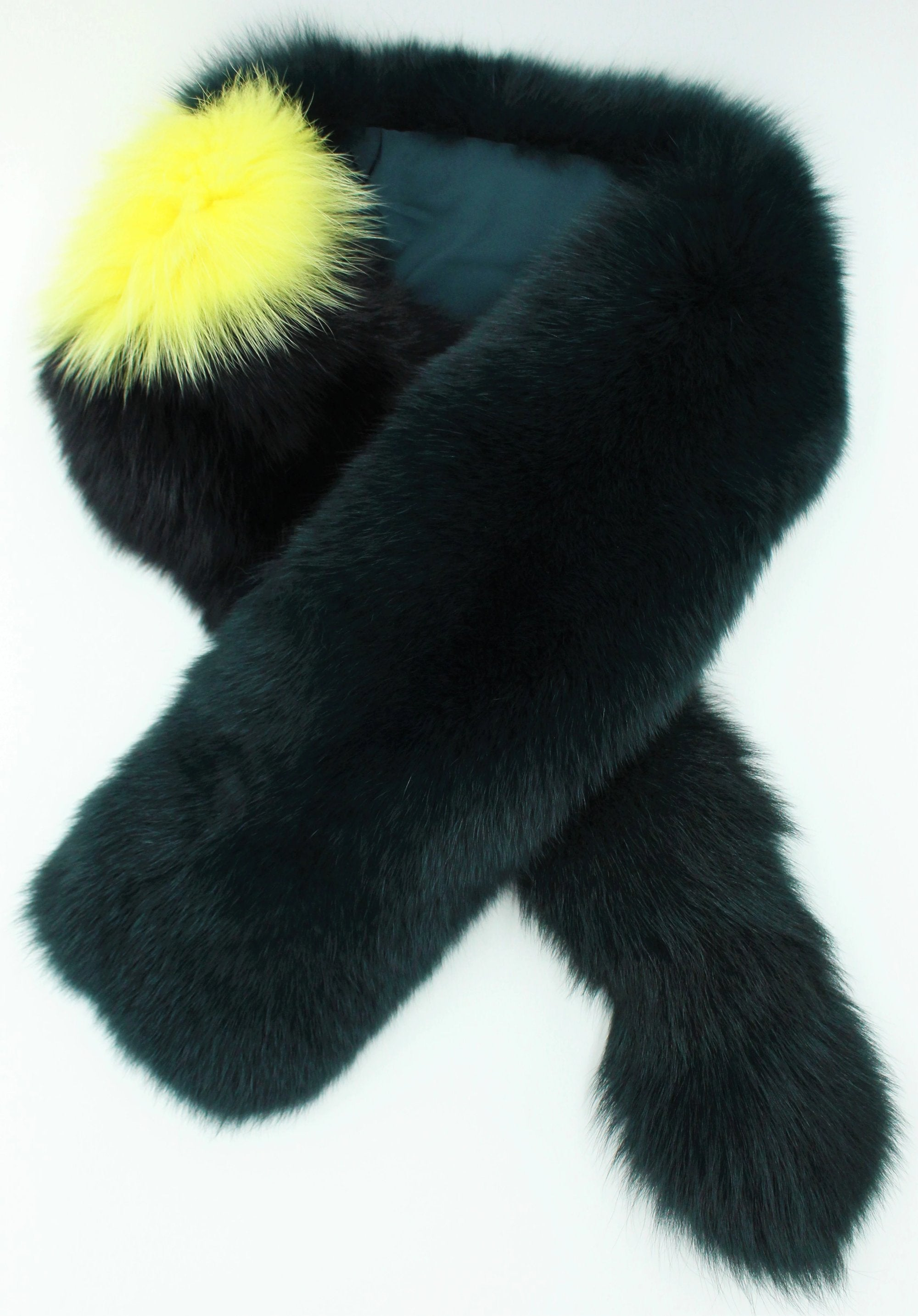 Fox fur multi color scarf