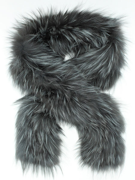 Knitted Fox fur scarf