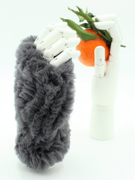 Rex rabbit Finger-less Mittens
