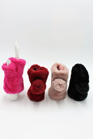 Fingerless mittens in Faux fur