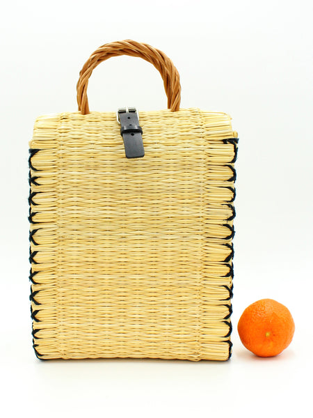 High Natural/Black artisanal basket