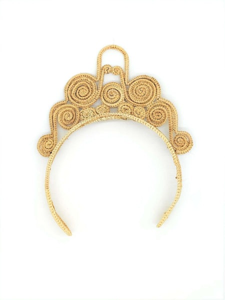 Straw Crown Headband