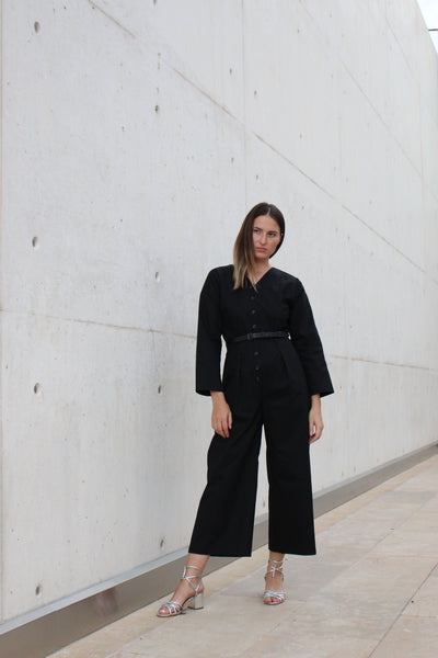 Button Down Jumpsuit by Diarte