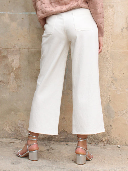 Straight Fit Pants with Separate Belt