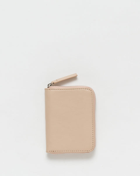 Tan leather short wallet