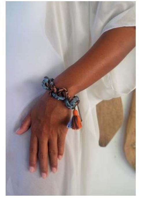 Tapestry chain links adjustable bracelet