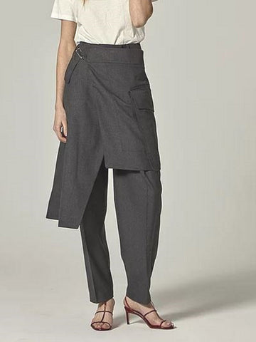 Anthracite Asymmetrical Skirt