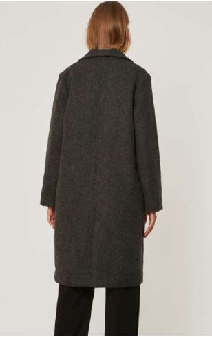 Long Coat in Charcoal by AMT for Folklorious