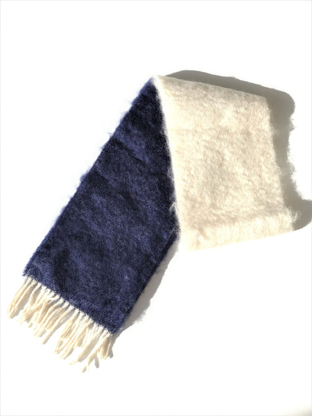 Bi-Color Mohair Scarf