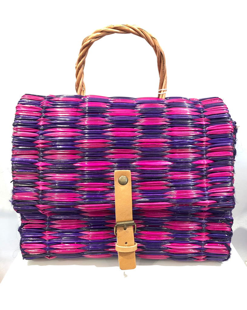 Small Pink/Purple artisanal basket