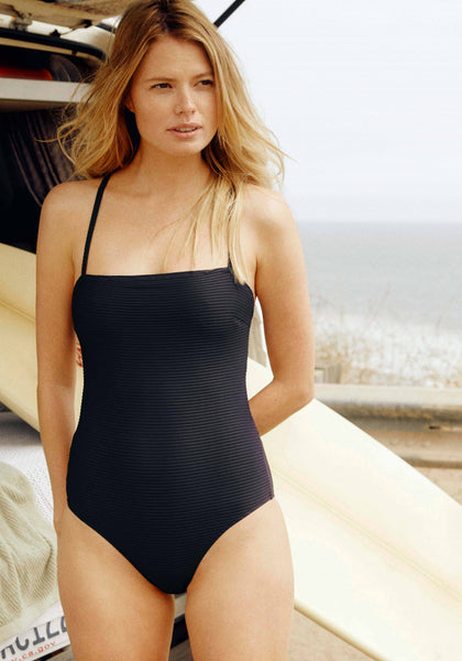Navy Jacquard One Piece