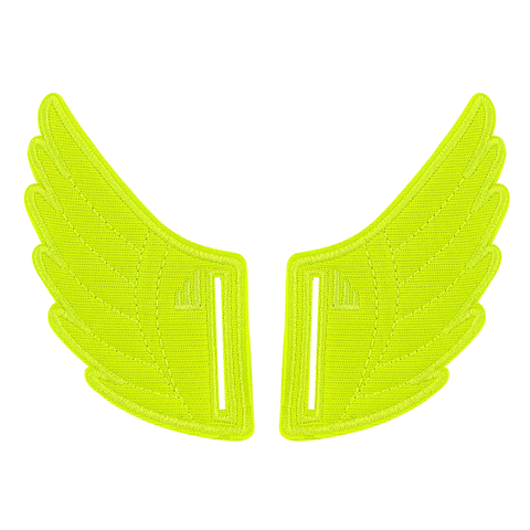 neon yellow `Shwings shoe accessory velcro