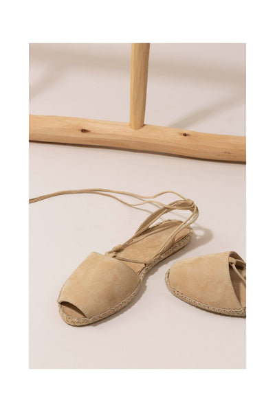 SABINE Beige Suede Espadrille from Mint and Rose