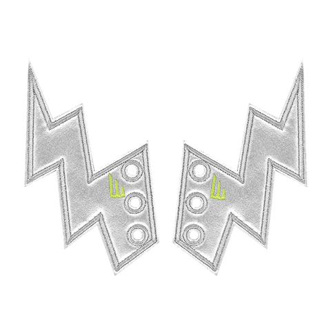 Lightning bolt wings silver