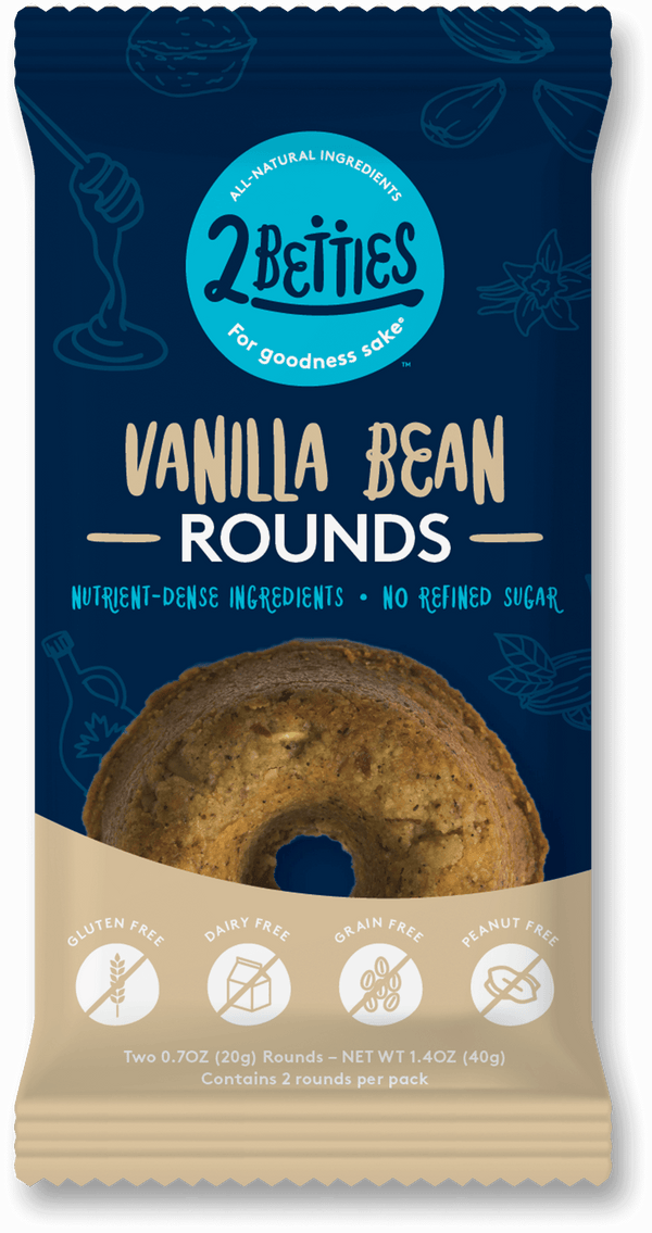 2Betties Vanilla Bean Rounds | healthy snacks  - package