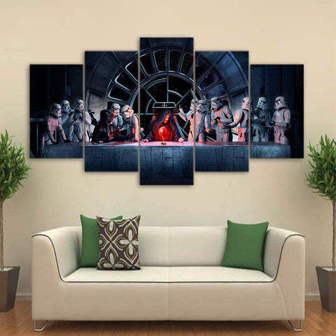 5 Panels Star Wars Wall Art Home