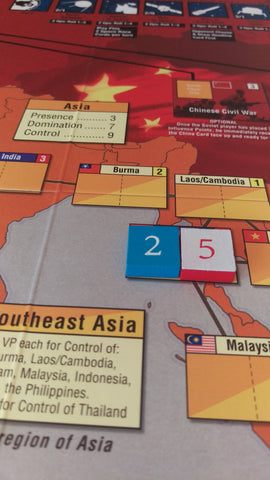 Wooden Numbered Tiles for Twilight Struggle