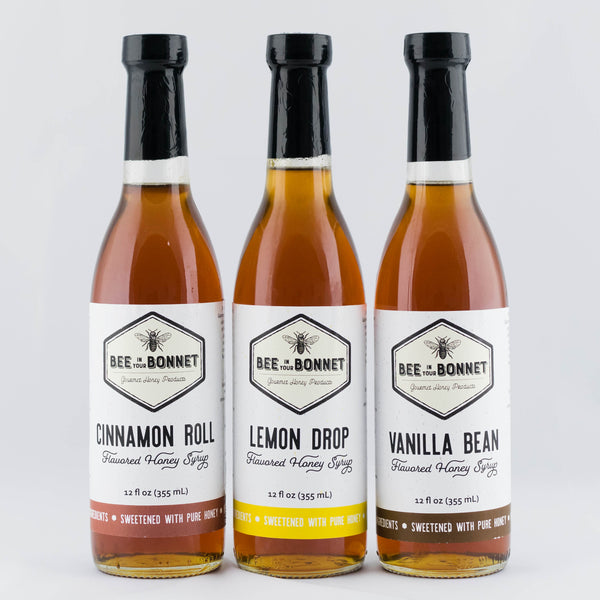 Flavored Honey Syrup Variety Pack