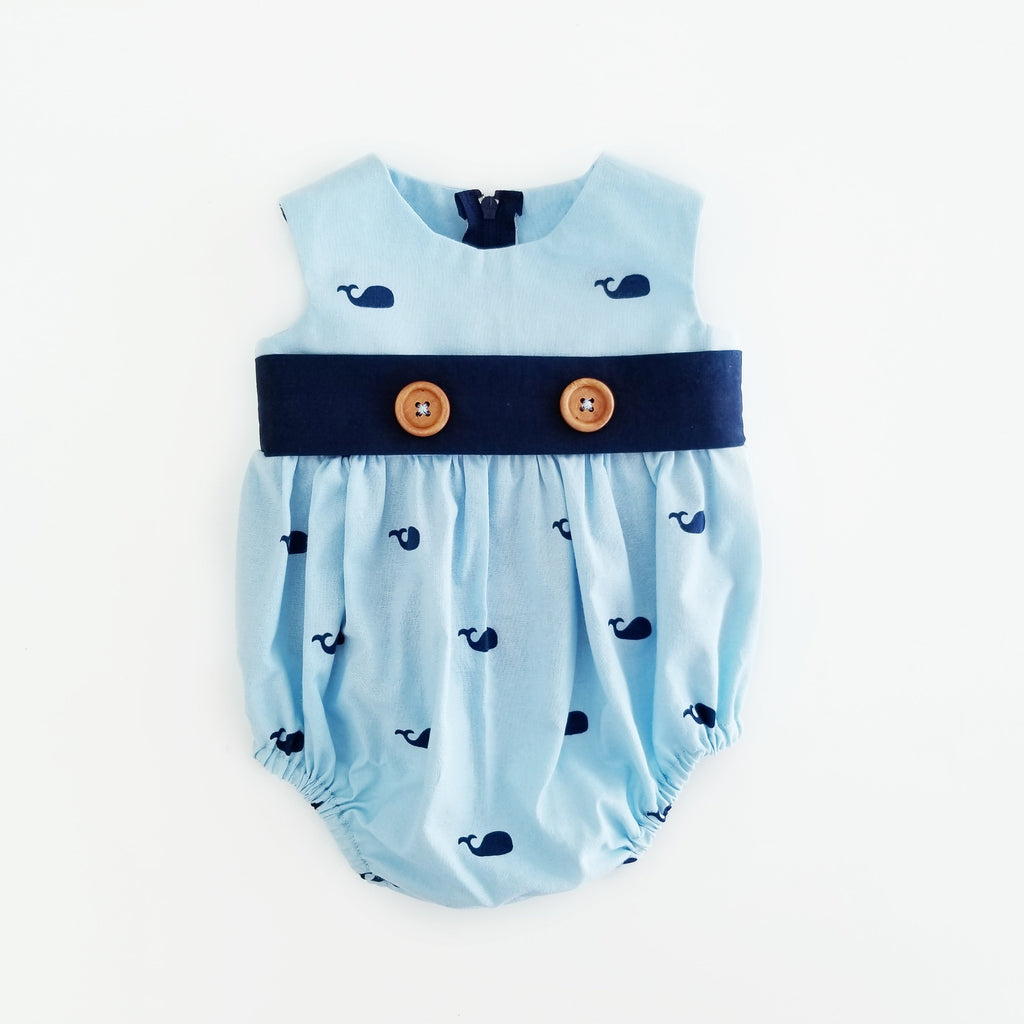 Whale Bubble Romper