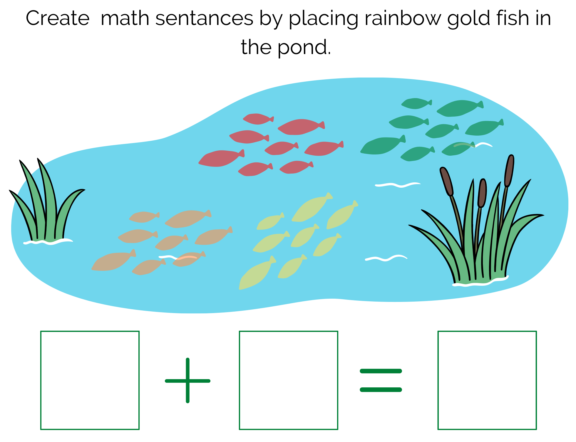 Rainbow Math Pond