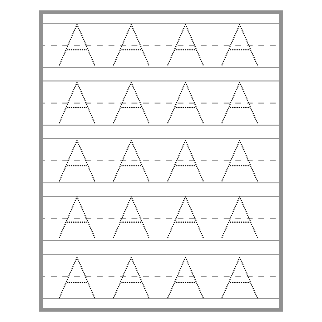 Extra-Large Capital Letter Tracing Packet