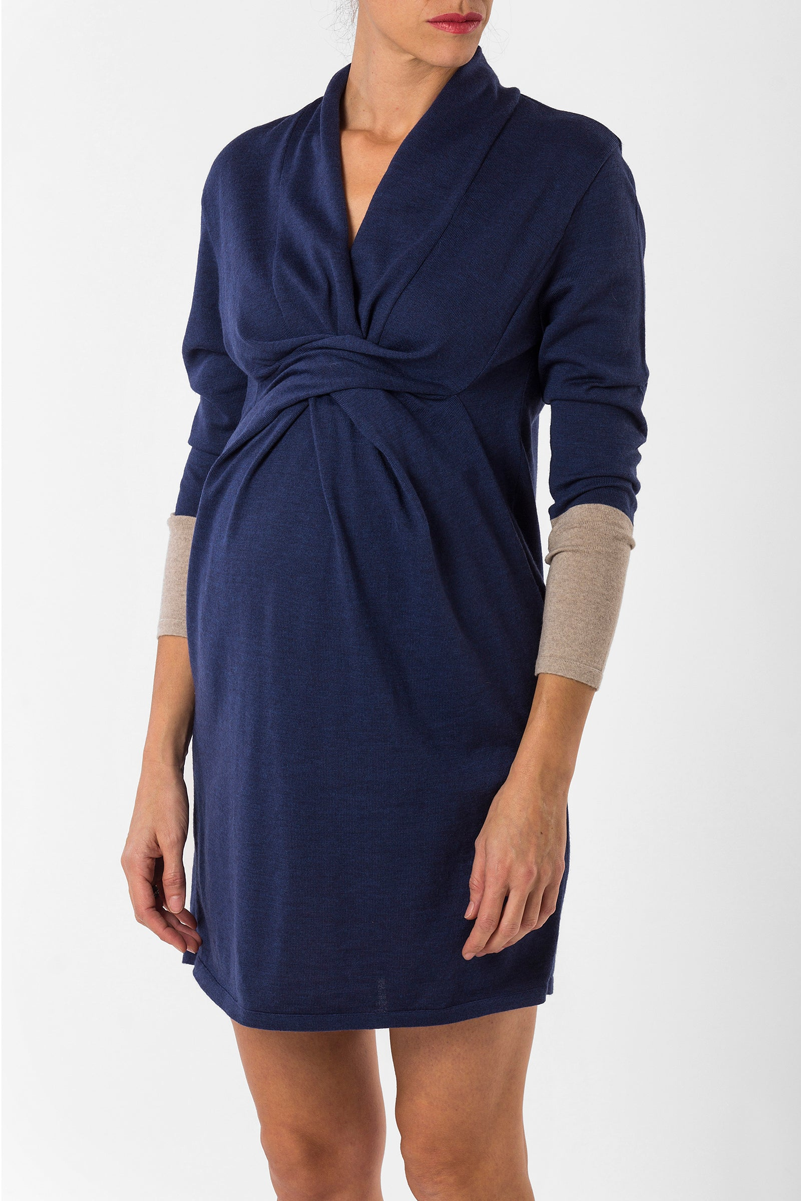 cf4ed7019f0 pregnancy dress - nursing dress - merino wool dress - blue