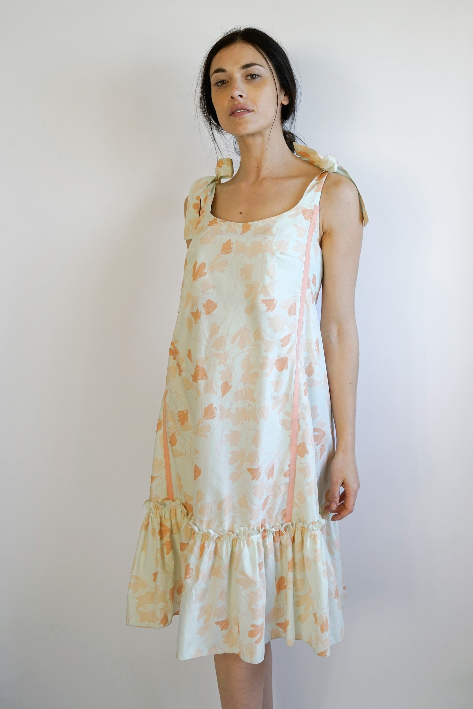 Elisa maternity dress - peach