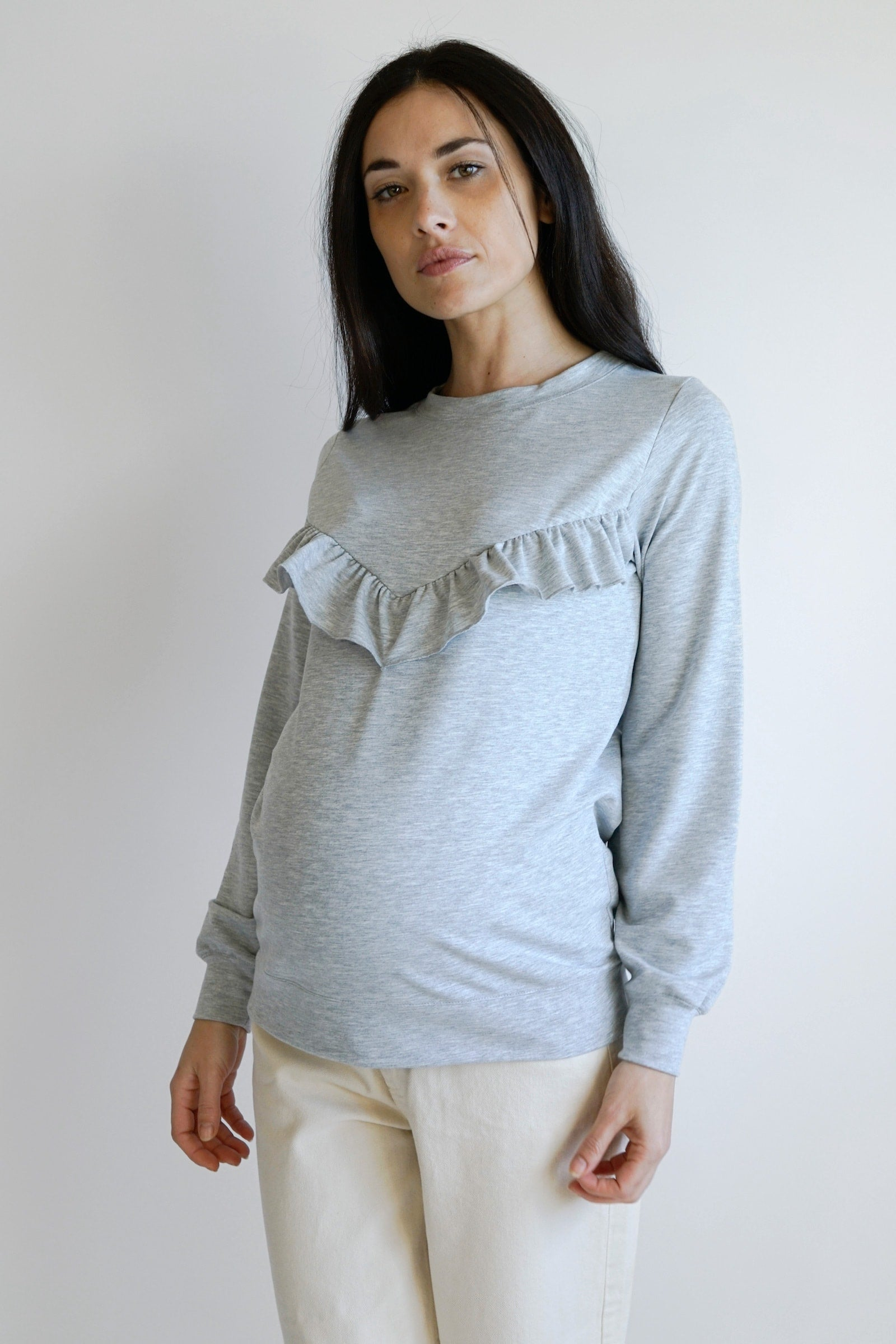 Gemma Ruffle - light grey