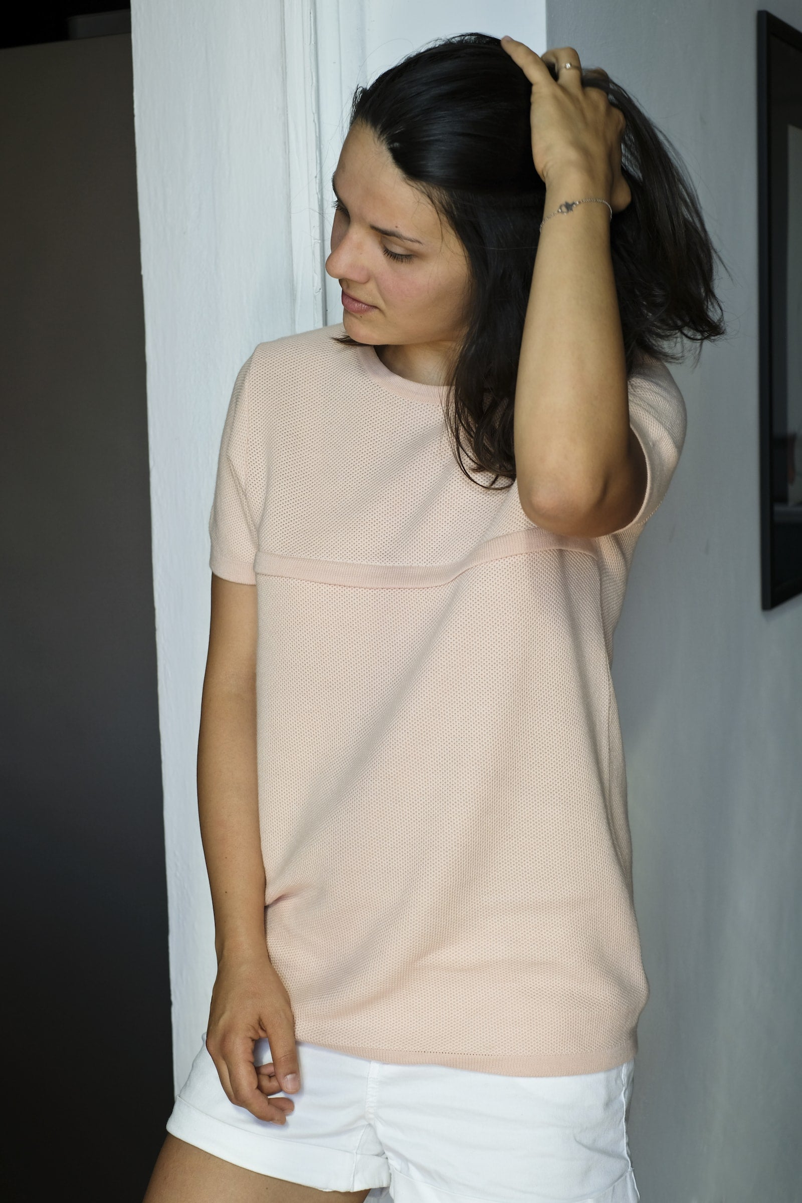 lia nursing top - blush
