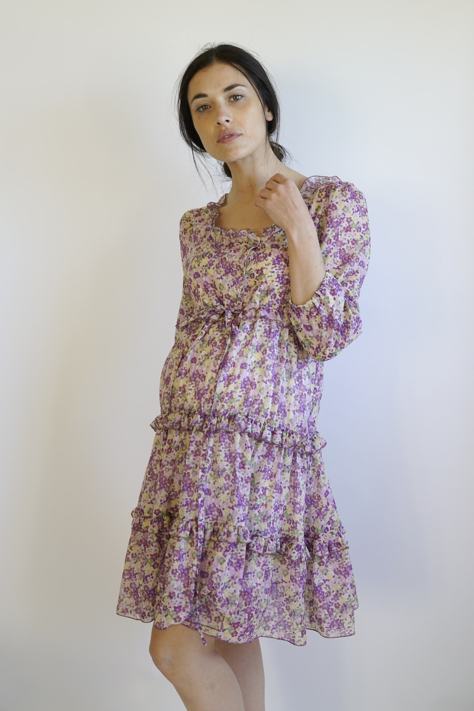 Lolla maternity dress -maternity dress - violet