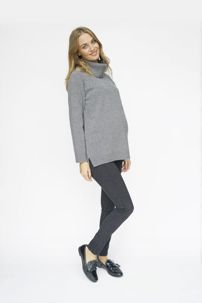 Maternity sweater - pregnancy sweater - Nursing Sweater - teat&cosset sweater - grey