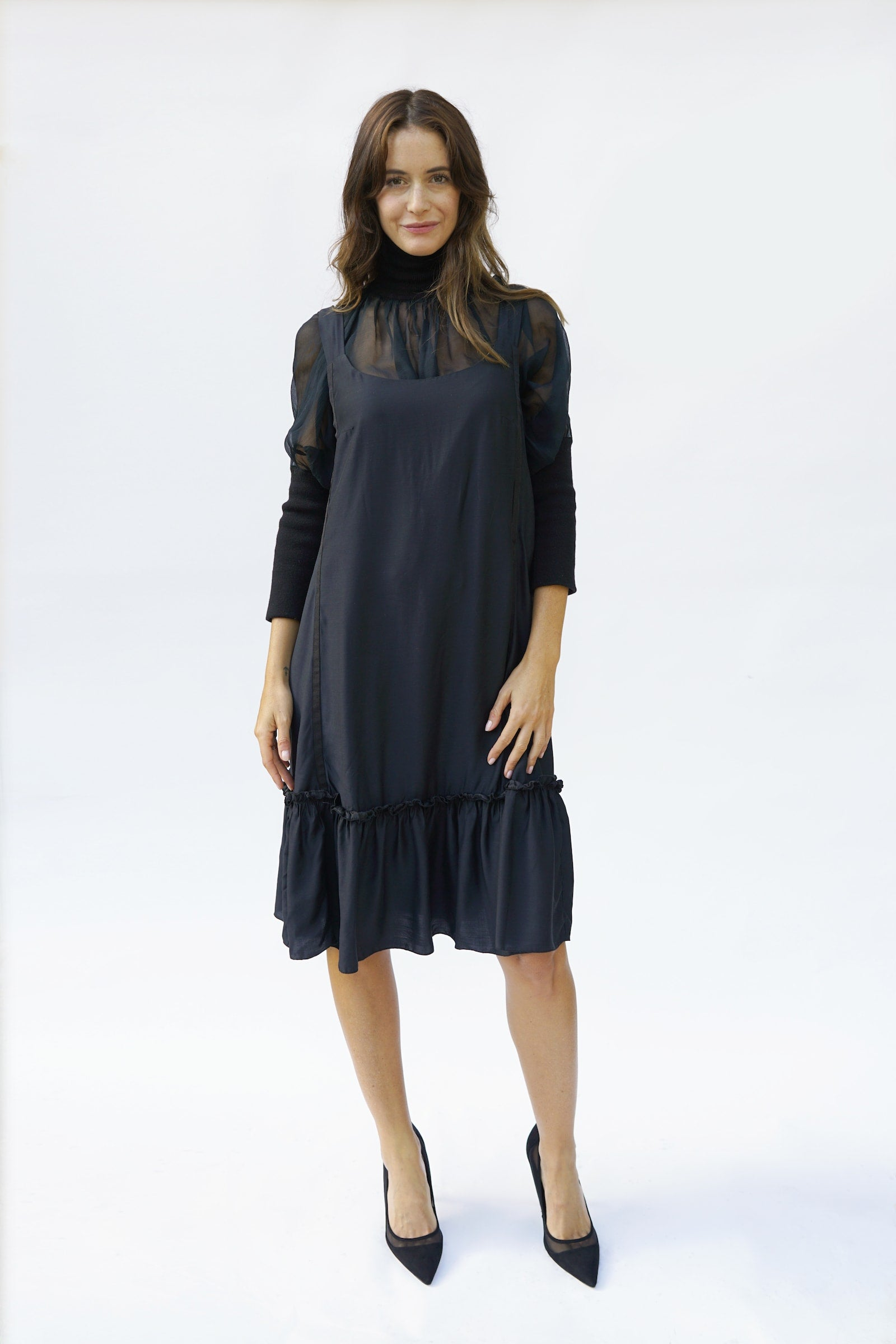 Elisa Maternity Dress - Nursing Dress - Black