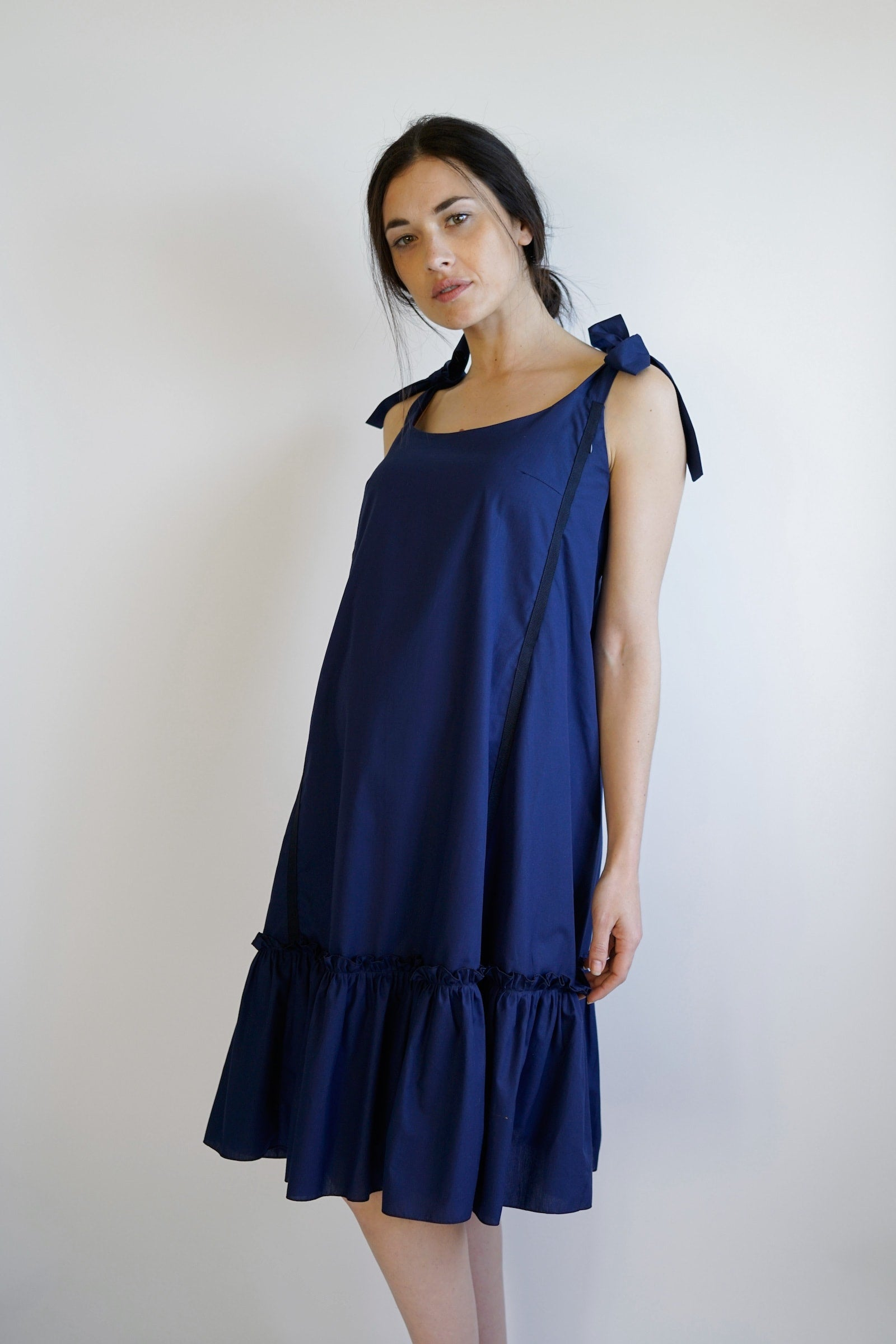 Elisa Maternity dress - Navy