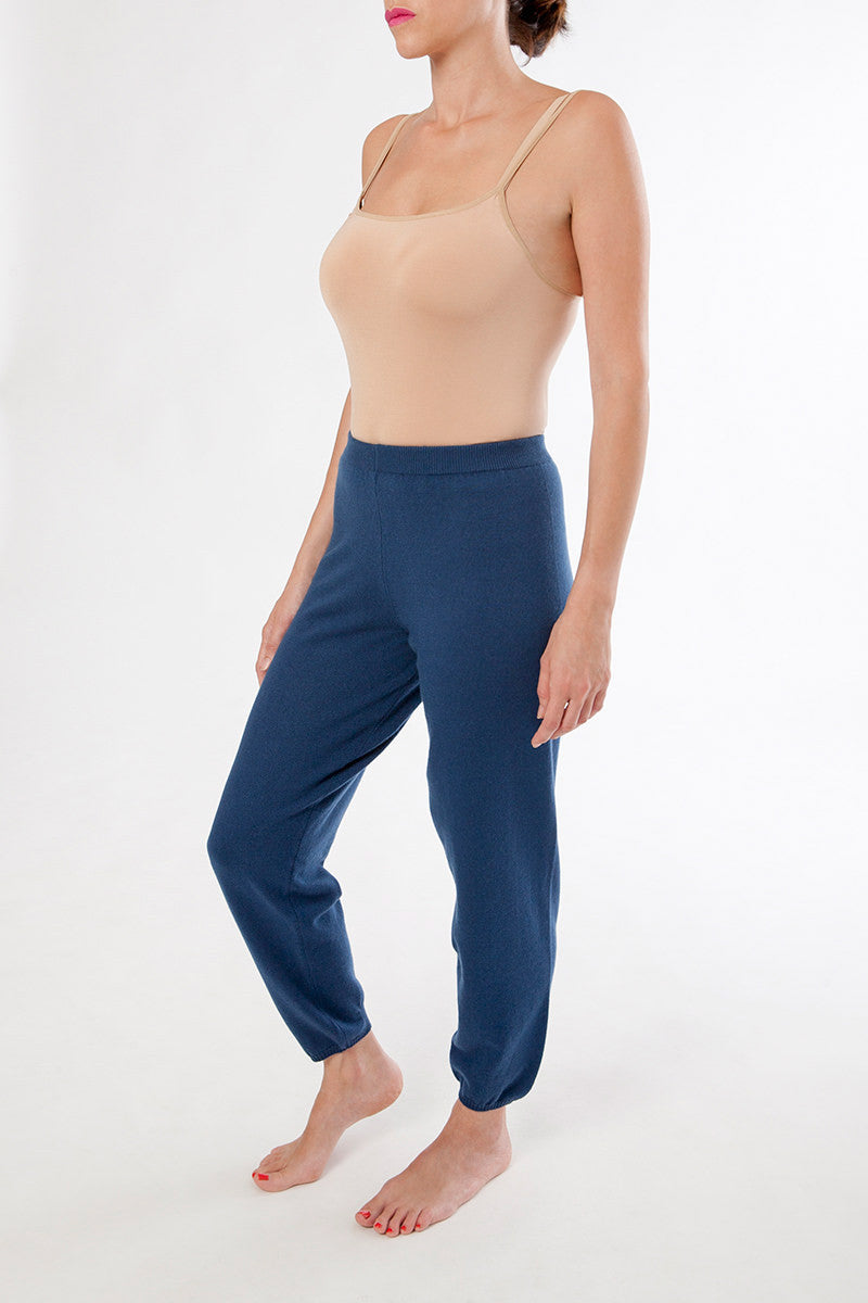 eva leggings - cashmere lounge pants - blue