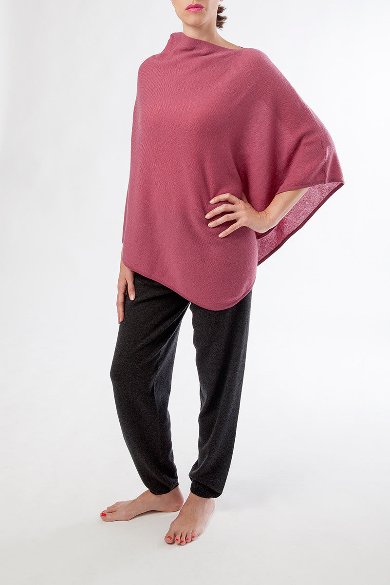 olimpia poncho - front - pink