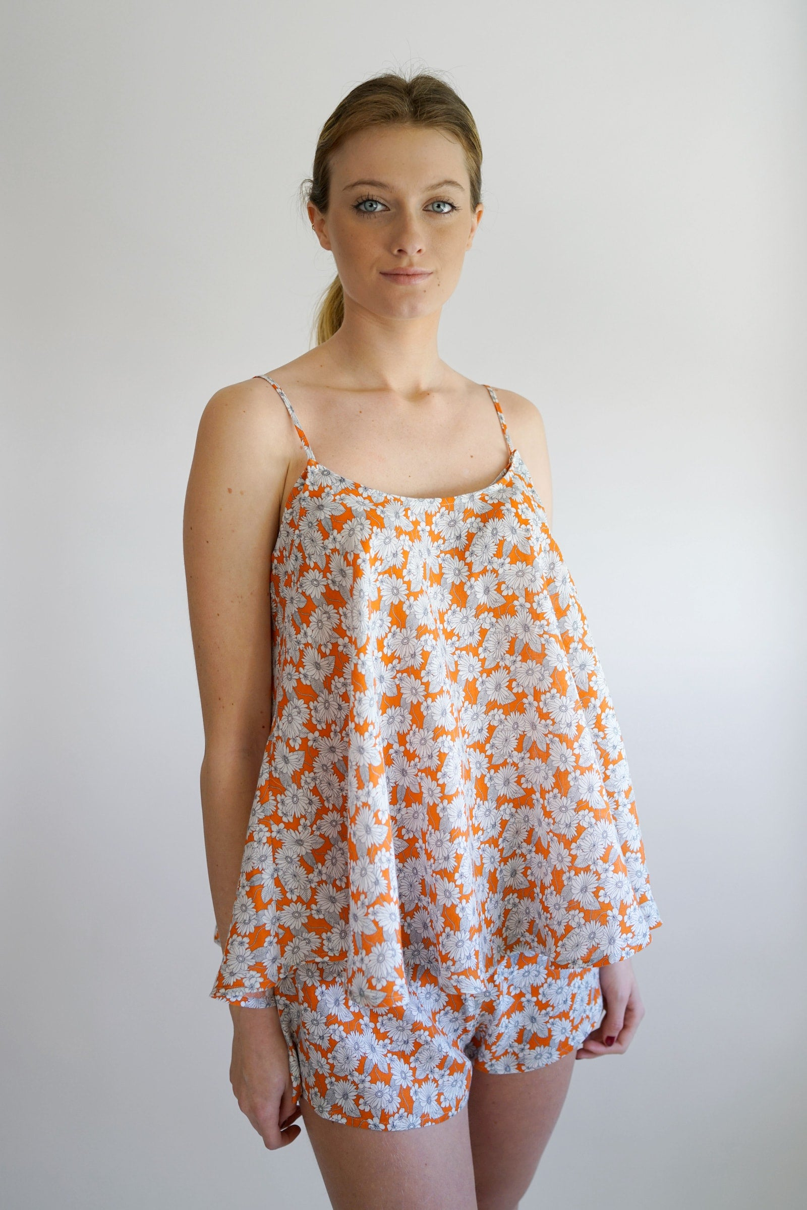 perry maternity pj - orange